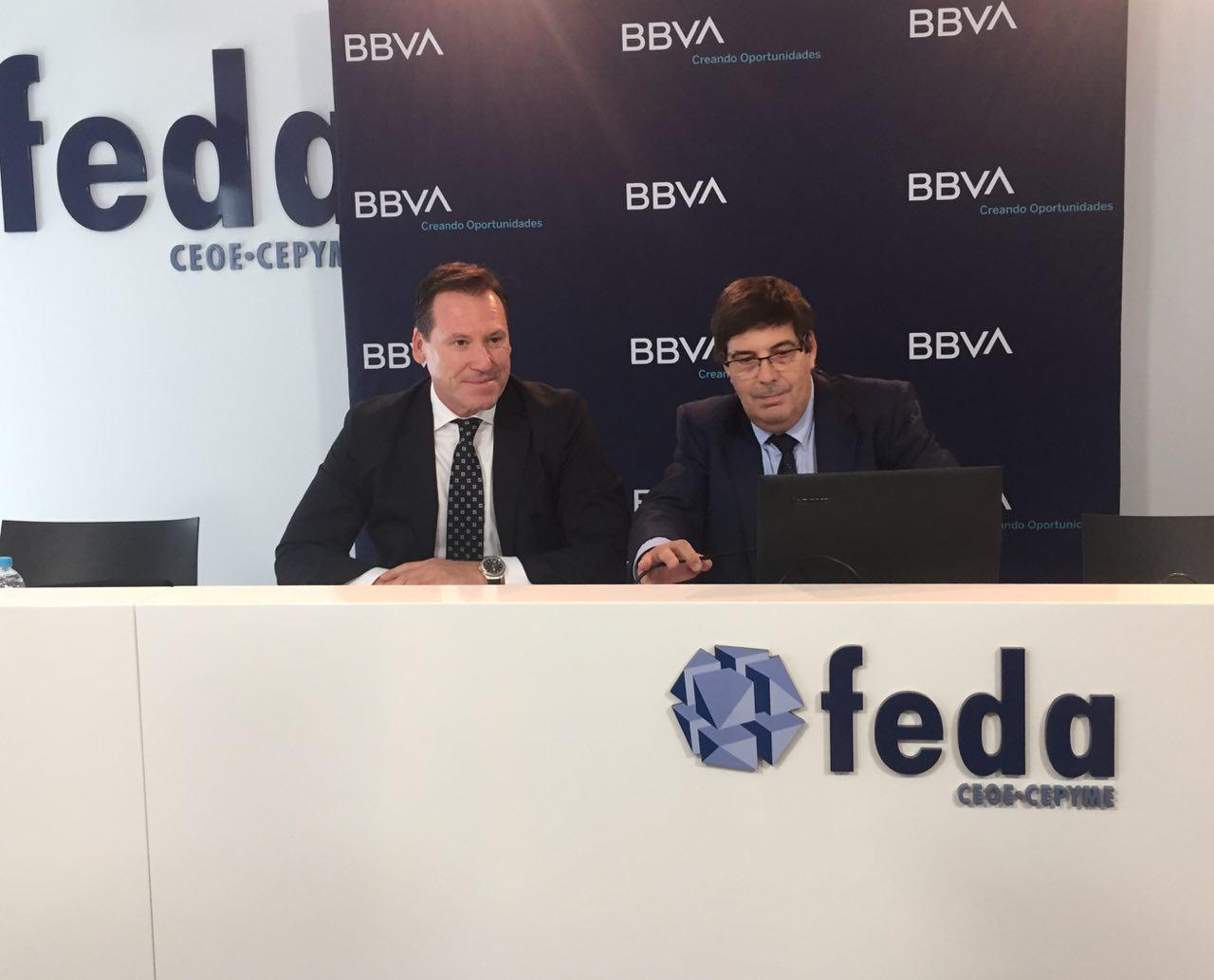 Francisco Pla, director de la Regional Centro de BBVA y Pep Ruiz, responsable del Análisis Regional para España