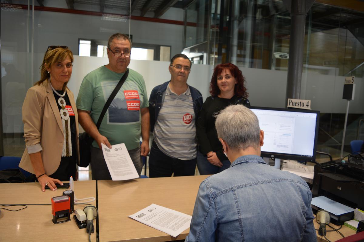 Registro manifiesto en defensa de las pensiones en Albacete, Juan antonio Navalón