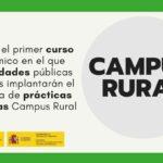 Este nuevo curso académico las universidades implantarán el programa Campus Rural