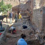 Descubierta la puerta monumental de entrada a la fortaleza del castillo de Isso (Hellín)